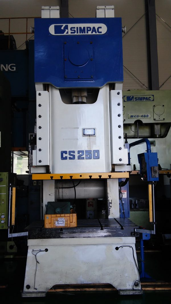 Used Simpac 250 ton C-Frame Press CS-250, 2011 year